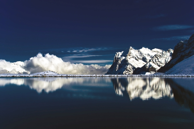 Winning photo - stunning lake in the Swiss Alps with a mountain backdrop