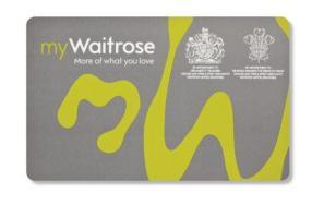 waitrose card
